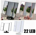 Tri Fold Cosmetic Mirror With 8/24 LED Light Up For Makeup Vanity Dressing Table