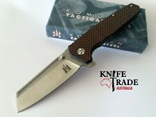 Komoran KO021 Folding Pocket Knife Flipper Deployment Carbon Fibre Handle EDC