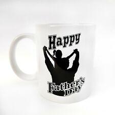 Girl/Boy On Dad's Shoulders Silhouette Father's Day Tea/Coffee Mug Gift