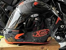 X-Lite X-803 Ultra Carbon Fibre Carbon / Red Motorcycle Motorbike Helmet nolan