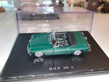 Universal Hobbies 1:43 Green MGB MK II British Convertible Very Rare W/Case!
