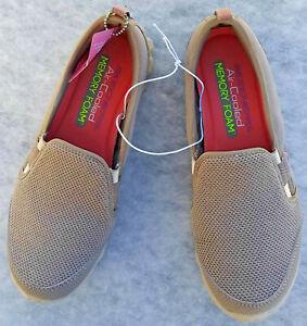 Skechers Air Cooled Memory Foam New US 6.5Tan Casual Slip On Women's Hiking Shoe