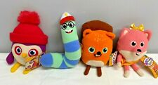 "BECCA'S BUNCH Full Set of 4 x Plush Toys 7"" Tall NEW Sylvia Pedro Russell Becca"