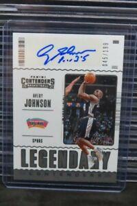 2020-21 Contenders Avery Johnson Legendary Auto Autograph #45/199 Spurs C935