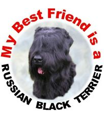 2 Russian Black Terrier Car Stickers By Starprint - Auto combined postage