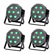 Professional LED DJ Par Lighting Uplight RGBW DMX Color Mixing Wall Wash 4 Pack