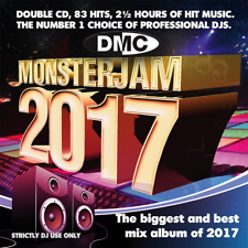 DMC Monsterjam 2017 Continuous Megamix DJ Double CD 83 Mixed Chart Hit Tracks