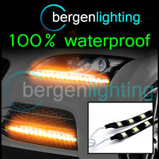 2X 1000MM AMBER REAR BUMPER LAMP INDICATOR 12V SMD5050 DRL MOOD LIGHTING STRIPS