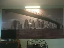 More details for giant picture of brooklyn bridge and manhattan island, new york. 245cm x 120cm