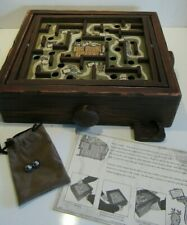 Circa Classics Grizzly Creek Wooden Maze Ball Marble Board 2003 Game IN BOX
