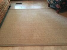 pottery barn sisal rug 5 x 7 good condition neutral color.