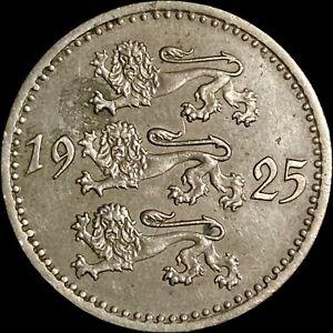 1925 Estonia 10 Marka - Three Lions