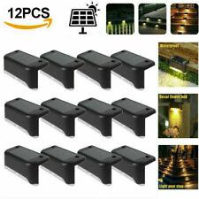 4-12Pcs Solar LED Bright Deck Lights Outdoor Garden Patio Railing Path Lighting