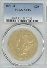 1851-O GOLD DOUBLE EAGLE GRADED XF45 BY PCGS  $20 COIN,