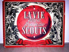 P. JOUBERT / LA VIE DES SCOUTS -COMPLET 200 VIGNETTES PAR CHOCOLAT SUCHARD 1951