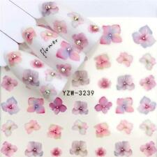 Nail Art Water Decals Transfers Stickers Spring Summer Flowers Floral (3239)