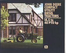 JOHN DEERE COMPACT UTILITY DIESEL 1982 Buyers Guide