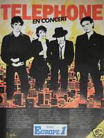 PUBLICITÉ DE PRESSE 1982 TELEPHONE EN CONCERT AVEC EUROPE 1