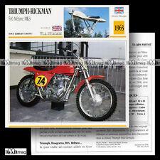 #005.19 TRIUMPH-RICKMAN METISSE 500 MK3 Modèle 1963 Fiche Moto Motorcycle Card