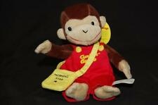 "Curious George Monkey News Paper Boy Plush Stuffed Animal  9"" NWT Toy Network"