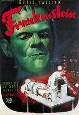 Frankenstein (1931)  Boris Karloff Horror movie poster print