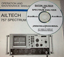 AILTECH 757 Spec Analyzer Ops & Service Manual + 1340A
