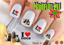 """Nail Art #136 Dog Breed """"I love Dog Group"""" WaterSlide Nail Decals Transfers"""