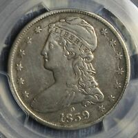 1839-O CAPPED BUST SILVER HALF DOLLAR PCGS GENUINE VF-DETAILS COIN FREE SHIPPING
