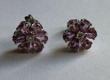 Harry Winston Platinum Pink Sapphire & Diamond Earrings