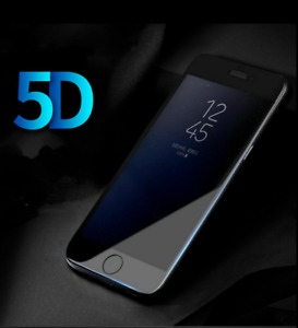 5D Gorila Tempered Glass Screen Protector For Apple iPhone 8 Black Case Friendly