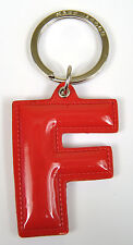 Marc by Marc Jacobs Alphabet Letter Initial Key Ring Chain Charm Holder Red F