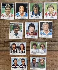 11 1980 ORIGINAL PANINI FOOTBALL 80 UNUSED STICKERS VARIOUS F075 ALL DIFFERENT