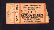 1983 Moody Blues Stevie Ray Vaughan concert ticket Buffalo NY Texas Flood Tour