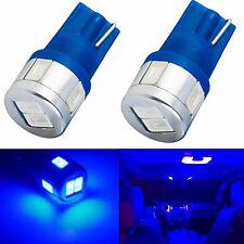 JDM ASTAR 2x Blue T10 Wedge License plate LED Lights Bulbs 194 2825 W5W 5730SMD