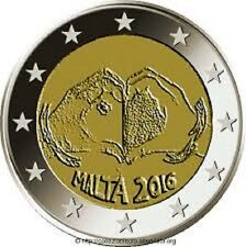 2 EURO MALTE COMMEMORATIVE UNC 2016 THEME AMOUR