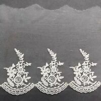 160mm Scallop Embroidered Lace Trim Ribbon Wedding sewing Bridal Shabby Craft