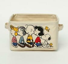 Snoopy Friends Peanuts Canvas Home Storage Box Glove Box Makeup Box Case Holder