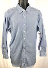 Polo Ralph Lauren Andrew Classic Fit Mens 17.5-32/33 Stripe Long Sleeve Shirt