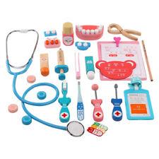 Wooden Full Set Doctor Toy Kit Pretend Play Kids Doctor Nurse Game Playset