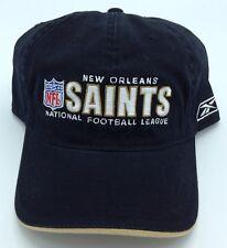 50cb14fd4b6 NFL New Orleans Saints Reebok Adult Slouch Curved Brim Adjustable Fit Cap  NEW!