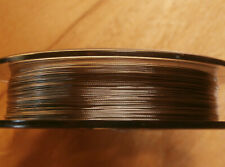 ".012"" Beading wire, Tigertail, clear coated stainless steel 7 strand 100ft spool"