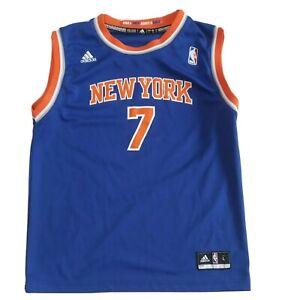 Youth Adidas NBA New York Knicks Vest Blue Basketball Jersey #7 Anthony 2013 L