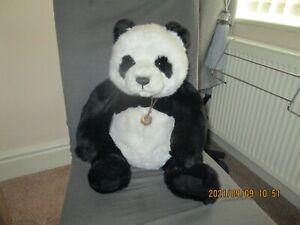 "A Large 20"" CHARLIE BEARS Plush Panda SWEETHEART Teddy Bear CB141466 from 2014"