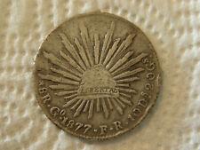 Mexiko 8 Reales 1877 F  Silber Republica Maxicana