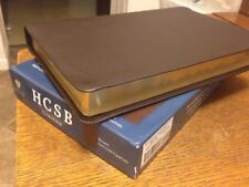 HCSB Ultrathin Reference Bible, Dark Brown Genuine Cowhide Leather thinline
