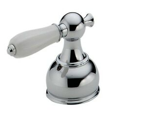 Delta H512 Single Large Handle In White Porcelain and Chrome