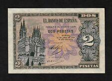 F.C. 2 PESETAS ABRIL 1938 , SERIE A , S/C- , MARQUITA EN EL MARGEN .