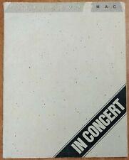 Fleetwood Mac In Concert 1980 Tusk Tour Program