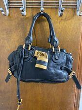 Chloe Paddington Black Leather Purse Handbag