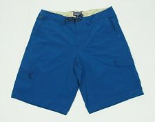 Patagonia MOC Blue Nylon Casual Cargo Tech Hybrid Shorts Mens 38